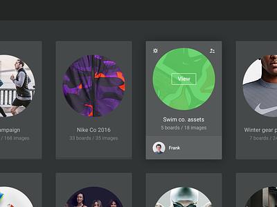 Stashboard [wip] flat dark card stashboard website app web collection interface ui board