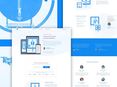 Intercom on Jobs-to-be-Done editorial illustration intercom interface marketing blue brand ebook book landing website web