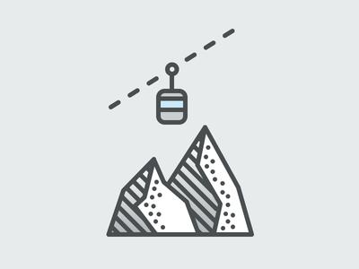 Lift snow illustration gondola lift resort mountain