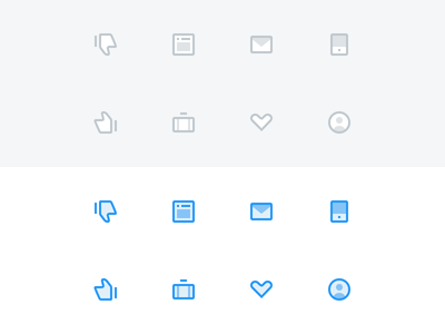 Small Icons mail mobile interface ui dashboard profile case thumb flat blue favorite icon