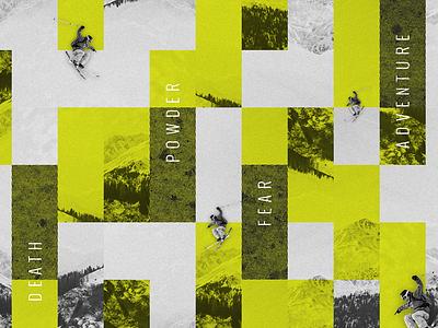 Skiiiiing texture skier adobe illustration collage freeride mountain resort skiing theme
