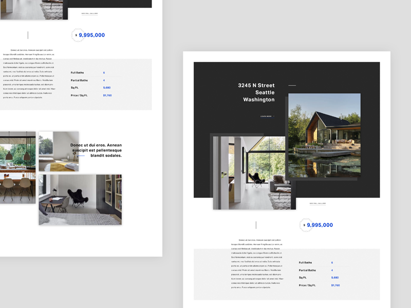 Realty [wip] photography clean landing architecture rent building house theme editorial website web realty
