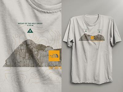 v2 – Colorado / Vail mountains apparel tshirt shirt branding swag north face outdoor hiking map texture