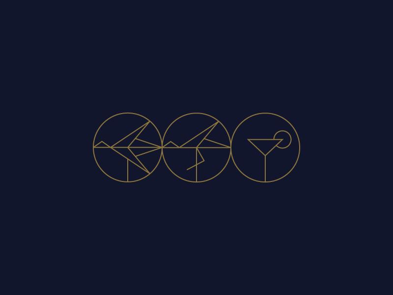 Stork logo mark label badge gin alcohol light thin simple stork bird brand