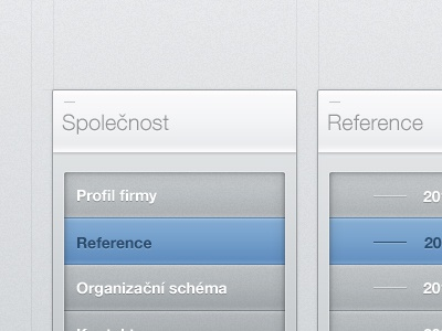 Some small boxes web website ui ux button menu grey dark white blue hover box select