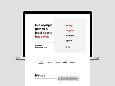 Landing [wip] clean layout swiss switzerland page promo event landing website web