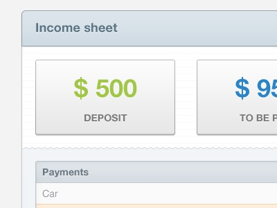 Income sheet d