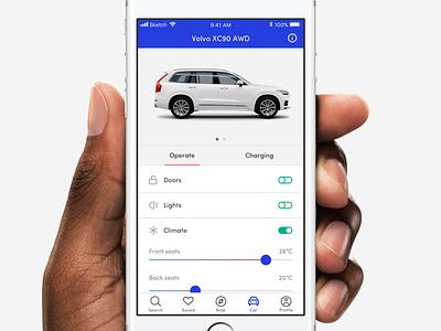 car settings settings ux ui iphone map travel holidays control remote car app