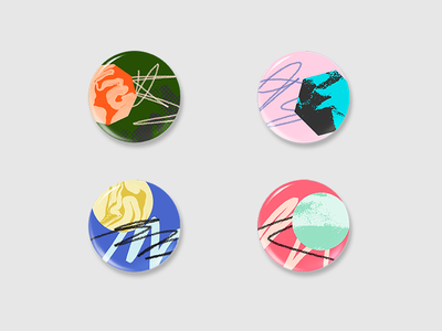 Buttons texture lines drawn hand abstract illustration pins buttons