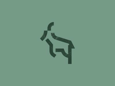 Chamois branding texture illustration symbol logo mark animal chamonix chamois