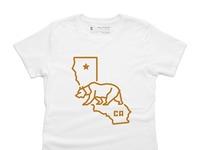 Bear state   100  cotton   women   tee   white