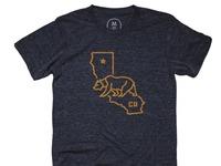 Bear state   tri blend   men   tee   vintage navy