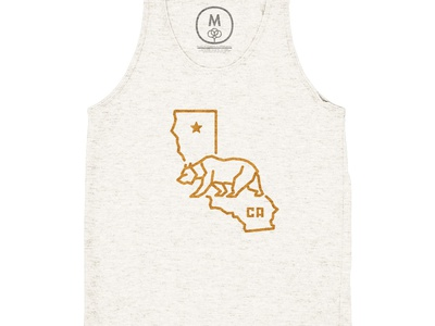 Cotton Bureau X Bear State t-shirt state bear california ca bureau cotton tank shirt graphic tshirt