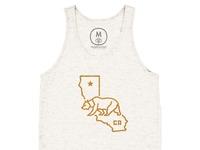 Bear state   tri blend   unisex   tank   oatmeal