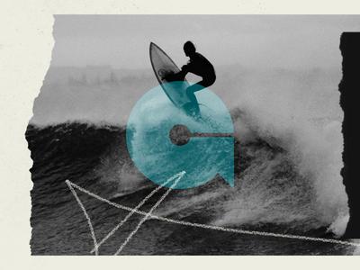 🏄♂️ outdoor surf board wave startup identity letter g symbol branding logo mark