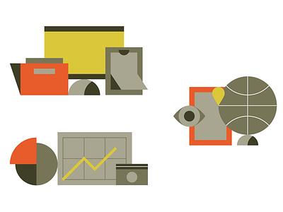 Web icons eye bold clean simple flat illustration icon globe money search job display chart marketing