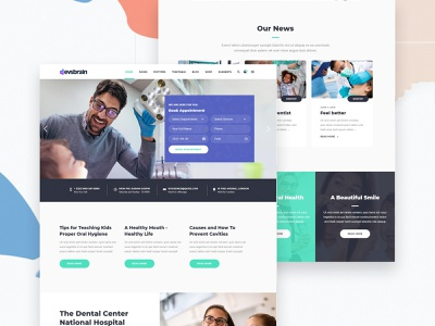 Book Appointment - Dentist mobile friendly website dental website design dental care dental clinic dental dentist app minimal debut design typography landing landing page user interface agency agency landing page creative portfolio case study services ui