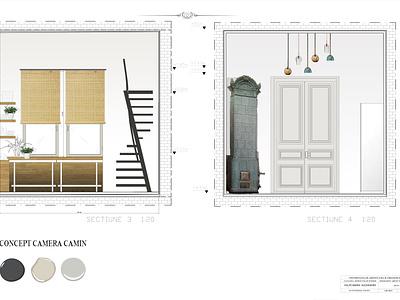 CAMPUS room design- photoshop green interior interior architecture design