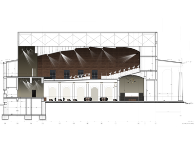 THEATRE - SECTION photoshop theatre acoustic design interior architecture