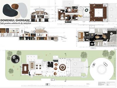 GHERGANI CLUB spa club interior architecture autocad interior photoshop design
