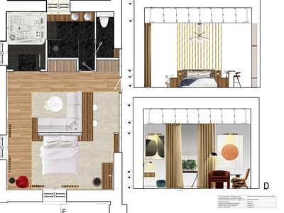 Ghergani Domain- room detail room hotel autocad design photoshop interior architecture interior