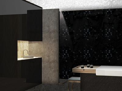 SPA- massage room dark space rander interior 3dsmax spa interior architecture design