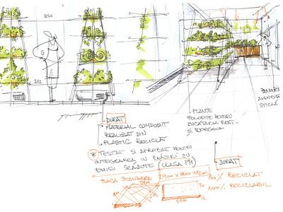 Greenhouse sketch hand drawn greenhouse drawing green restaurant design