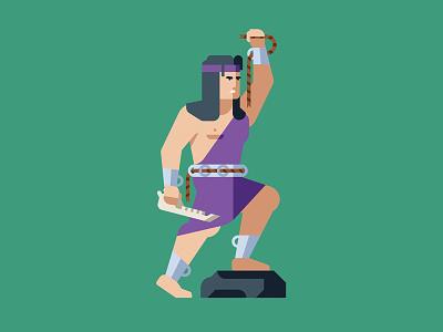 Samson jawbone delilah samson hero mythology bible character geometric vector flat design illustration