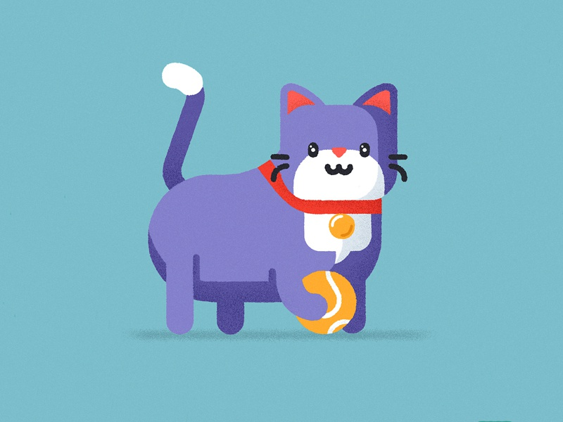 Lil' catto catto vector flat geometric cat cute character