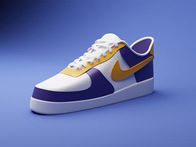 Nike illustration sneakers blender basket shoes nike 3d