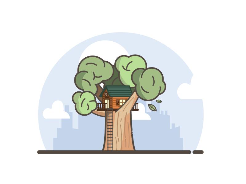 House bois maison arbre ville city nature tree tinyhouse house