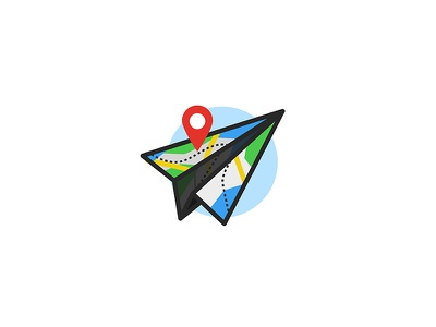 Maplane fly travel plane map