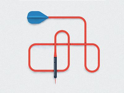 Dart arrow texture blue red dart