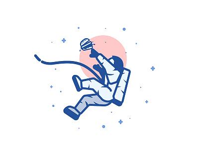 Space Burger astronaut illustration food star burger space