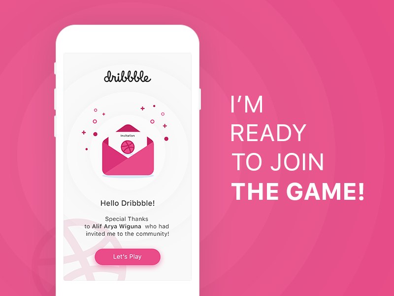 Hello Dribbble! first invitation hello simple app 1st shot