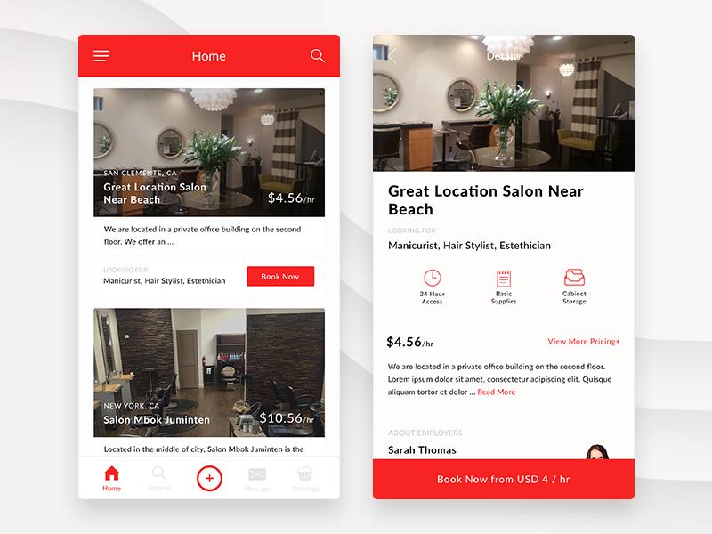 Space Rental App details home space rental space mobile app rental