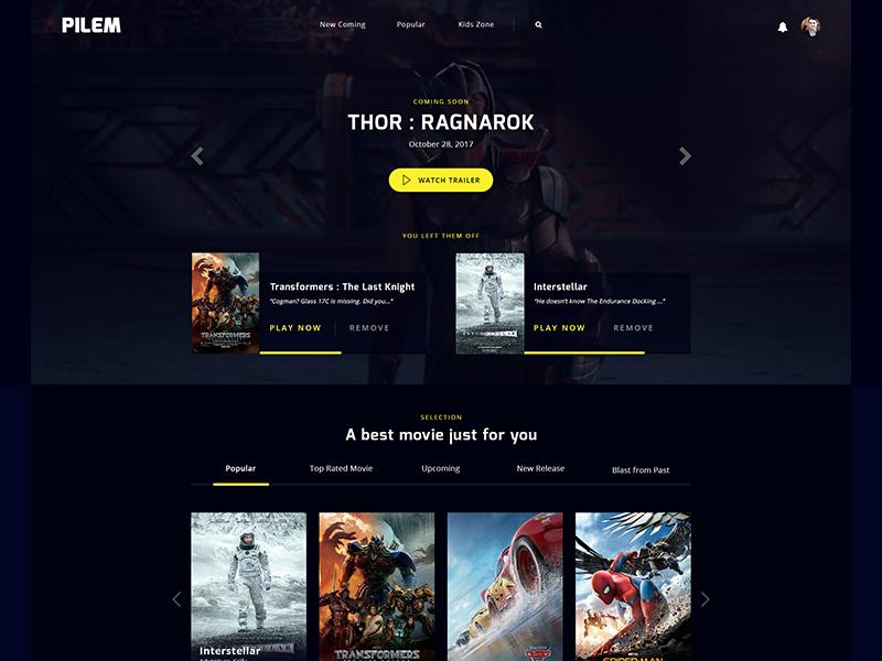 #Exploration 2 | Movie Streaming Service Homepage movie website ui user interface site design website movie homepage