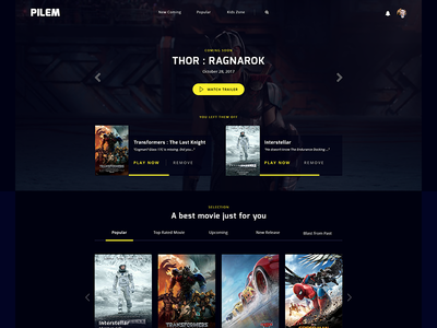 #Exploration 2   Movie Streaming Service Homepage