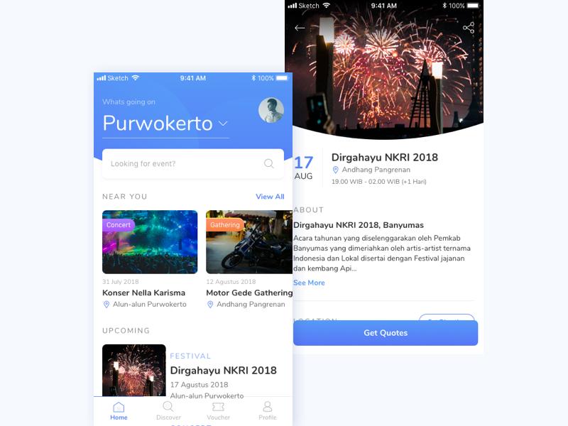 Event Discovery App Exploration dribbble invitation dribbble invitation personalized ux ui light ios app event app mobile app event