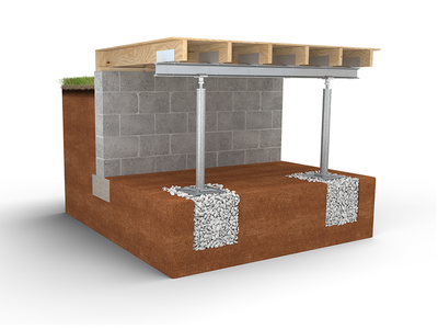 3d Cross-Section -- SmartJack Solution ground floor cross-section 3d stabilize concrete crawl space