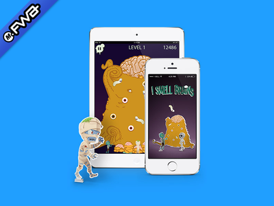 I Smell Brains Project Image fwa. app android ios game mobile site of the day