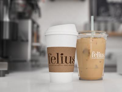 Felius Cat Cafe Counter & Branding