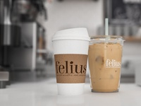 Felius Cat Cafe Counter & Branding
