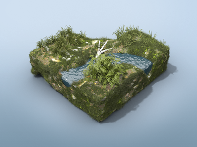 Dino Dig River Environment