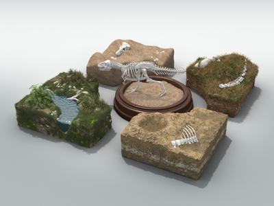 Dino Dig Environments surface microsoft app interactive excavation bones dinosaur environment 3d