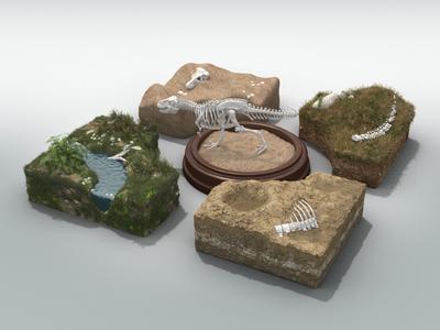 Dino Dig Environments