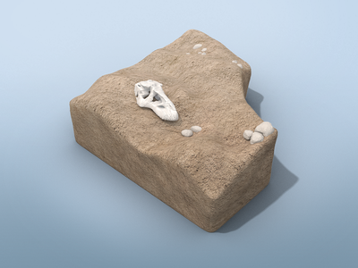 Dino Dig Desert Environment desert surface microsoft app interactive excavation bones dinosaur environment 3d