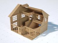 Corrugated material model