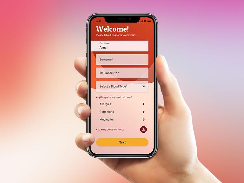 Emergency app alert menu sign up mockup motion ui interaction principle sketch iphone x app emergency