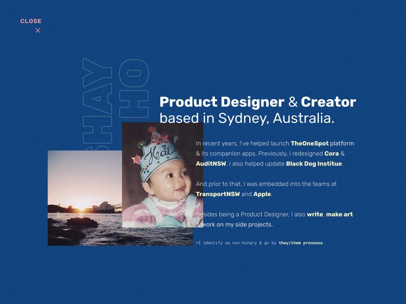 Portfolio 2020 - About Page ui interaction responsive sydney about web design figma css